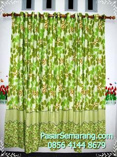 jual gorden natural adem dingin hijau cocok untuk ruang tamu