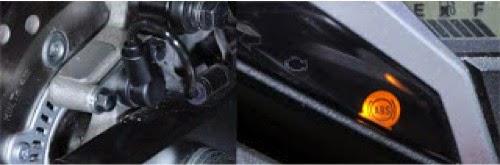 gambar lampu indikator petunjuk ABS yang terdapat pada speedometer