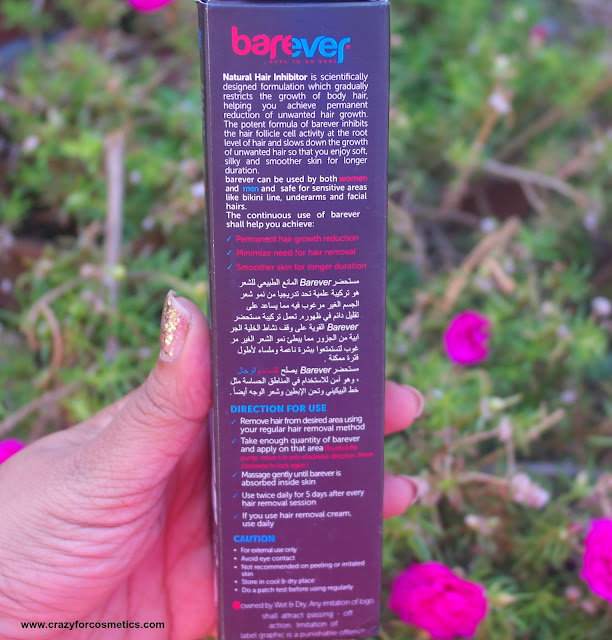 how to use barever natural hair inhibitor