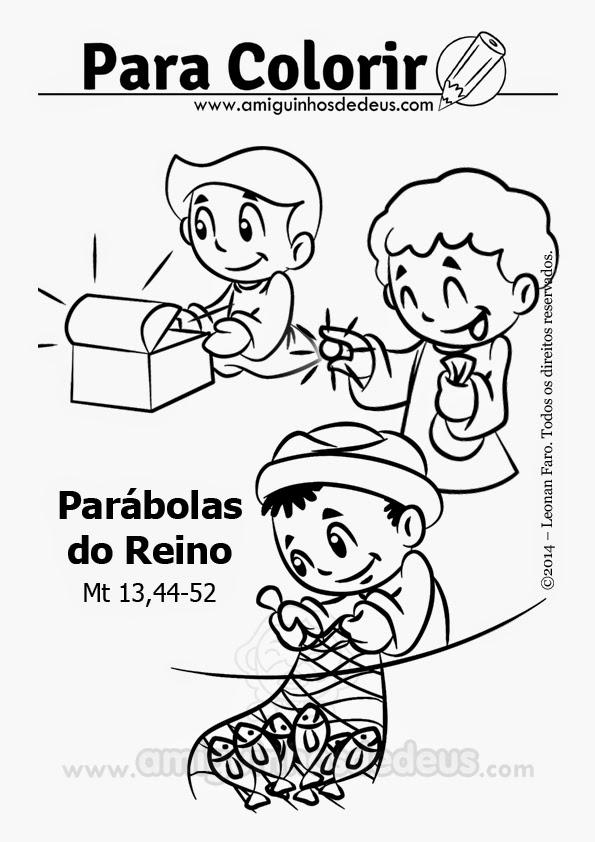 Parábolas do Reino desenho para colorir
