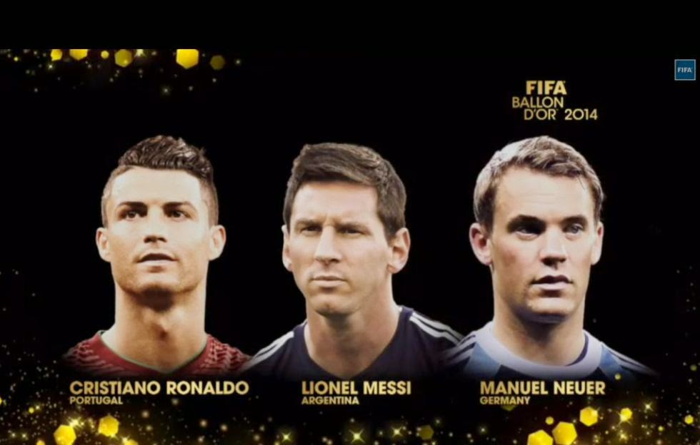 FIFA FRANCE FOOTBALL GOLDEN BALL 2014 CANDIDATES
