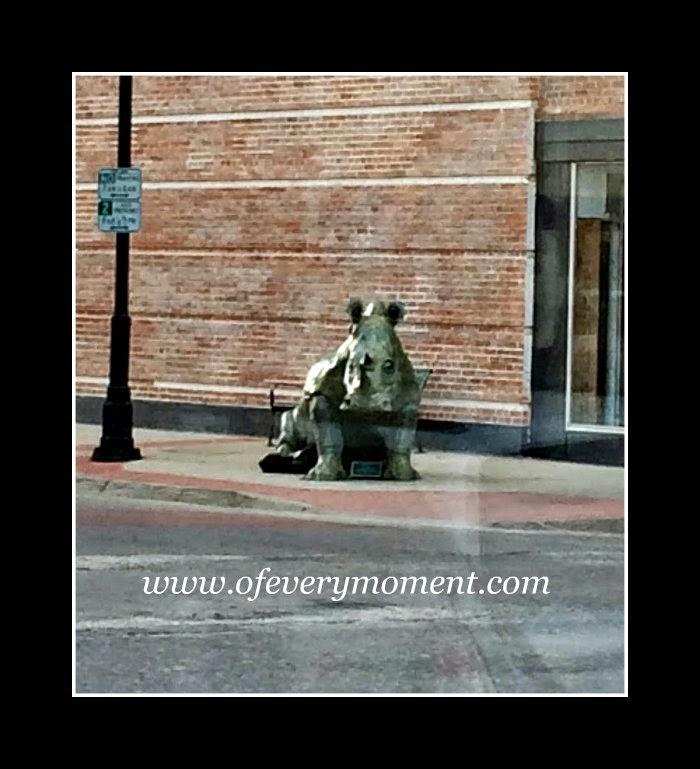 rhino statue, Sheridan WY