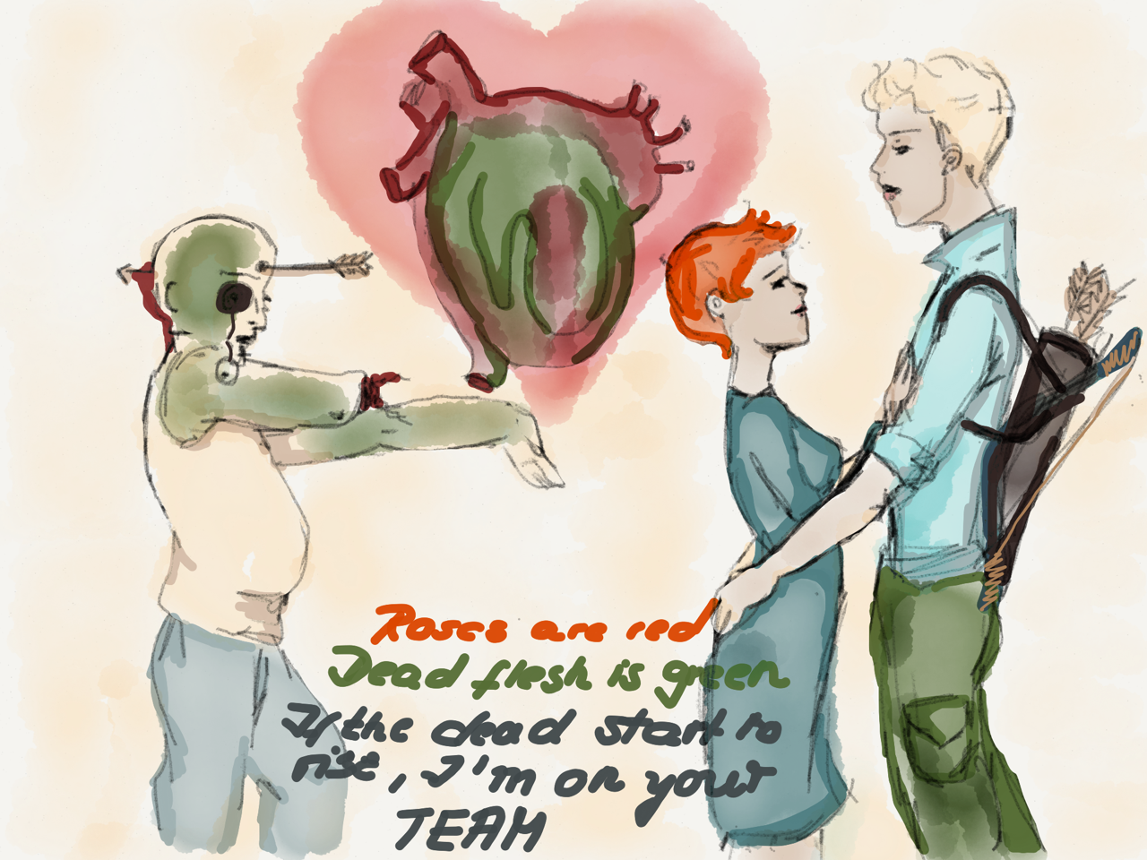 valentine's day card self made