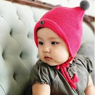 Model Topi Rajut Baby Cute
