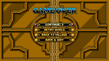 Wizorb PC game over screen