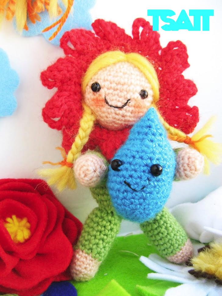 Amigurumi Flower Girl crochet pattern The Sun and the Turtle