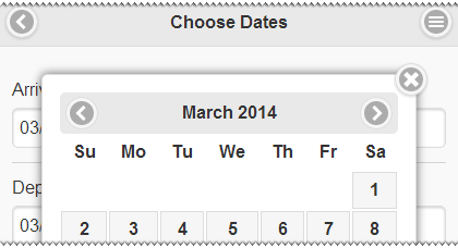 jQuery UI Datepicker for Mobile