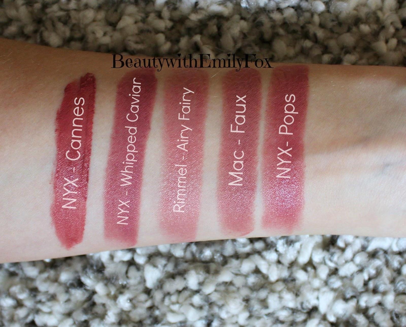 Connu Beautywithemilyfox: Mac Lipstick Dupes QX69