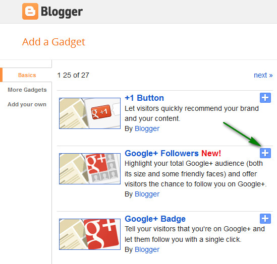 Add Google+ Followers Box In Blogger