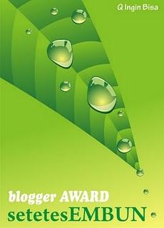 Award dari Arifebri dan Indriana90