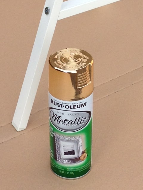 depot and bought the rust oleum metallic gold spray paint. Black Bedroom Furniture Sets. Home Design Ideas