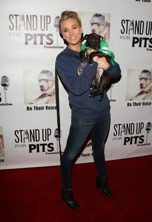 Kaley Cuoco, animal lover, dog
