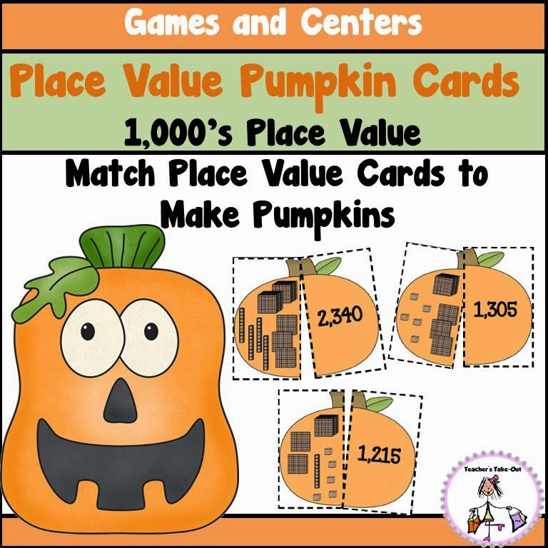 Place Value Pumpkins to 1000s place