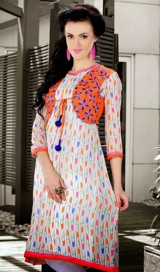 New Trend of Designer Kurtis 2014
