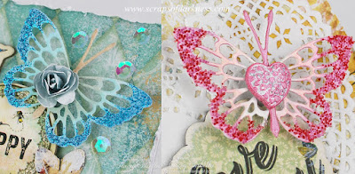 Oh-So-Sweet Butterflies in pink and blue