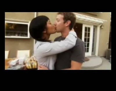 Rare photo of mark zuckerberg with his girlfriend kissing