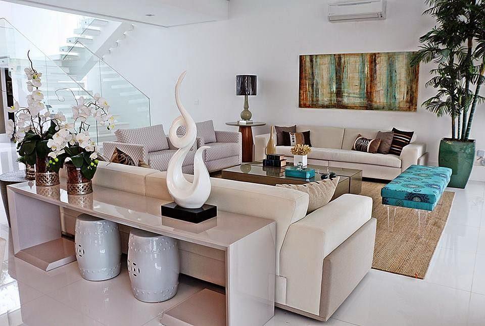 Construindo minha casa clean: salas de estar e de jantar decoradas ...