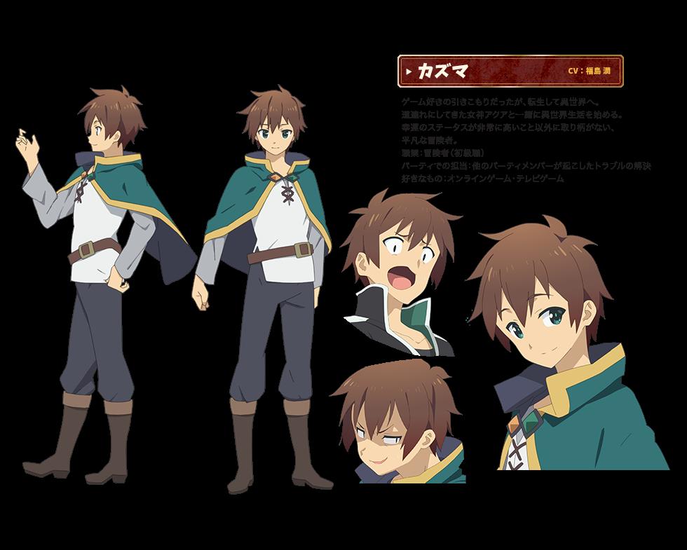 render Satou, Kazuma+ Konosuba (Kono Subarashii Sekai ni Shukufuku wo!),