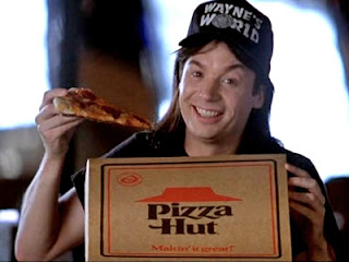 An obvious use of product placement in Wayne's World - Pizza Hut
