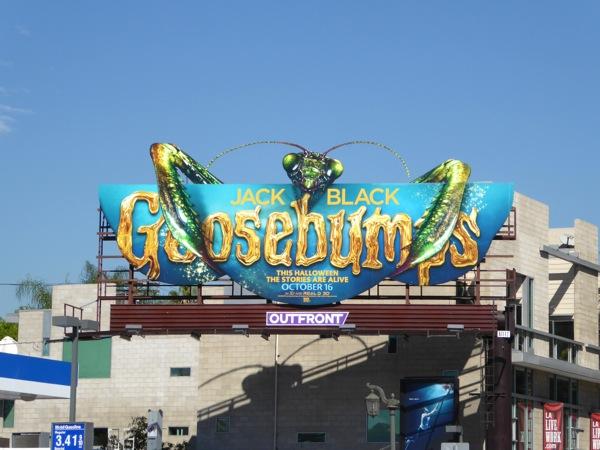 Praying Mantis Goosebumps movie billboard
