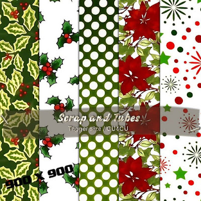 Christmas Papers 7 (CU4CU) .Christmas+Papers+7_Preview_Scrap+and+Tubes