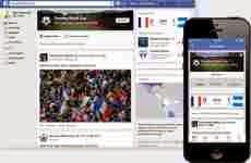 Facebook lanzó una página para seguir el mundial de fútbol