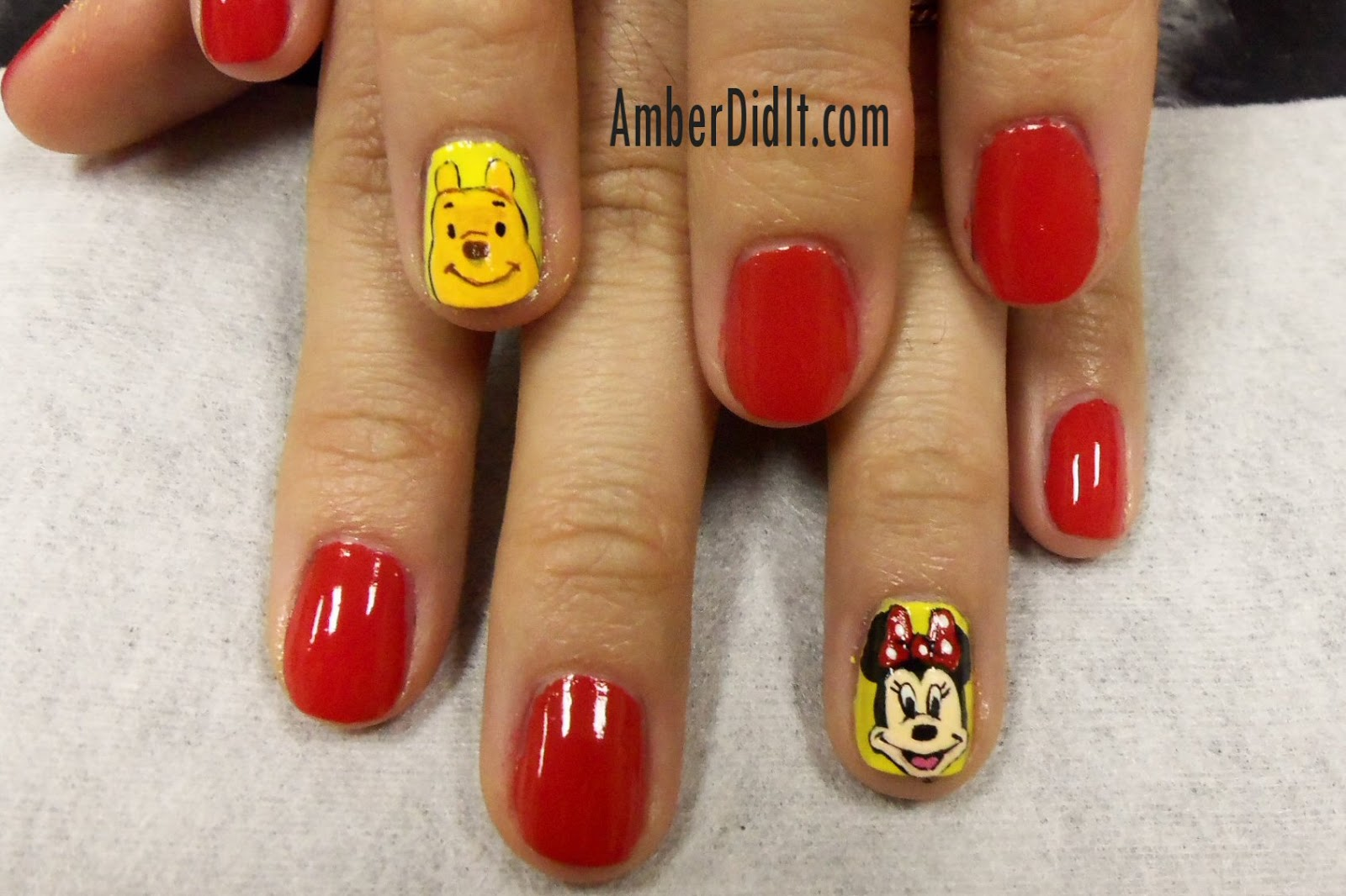 Amber Did It Cartoon Nail Artmickey Minnie Winnie The Pooh