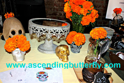 Dia De Los Muertos Sweets Bar Display sponsored by Country Crock and Lipton at We All Grow Summit speaks at #WeAllGrowNYC 2015