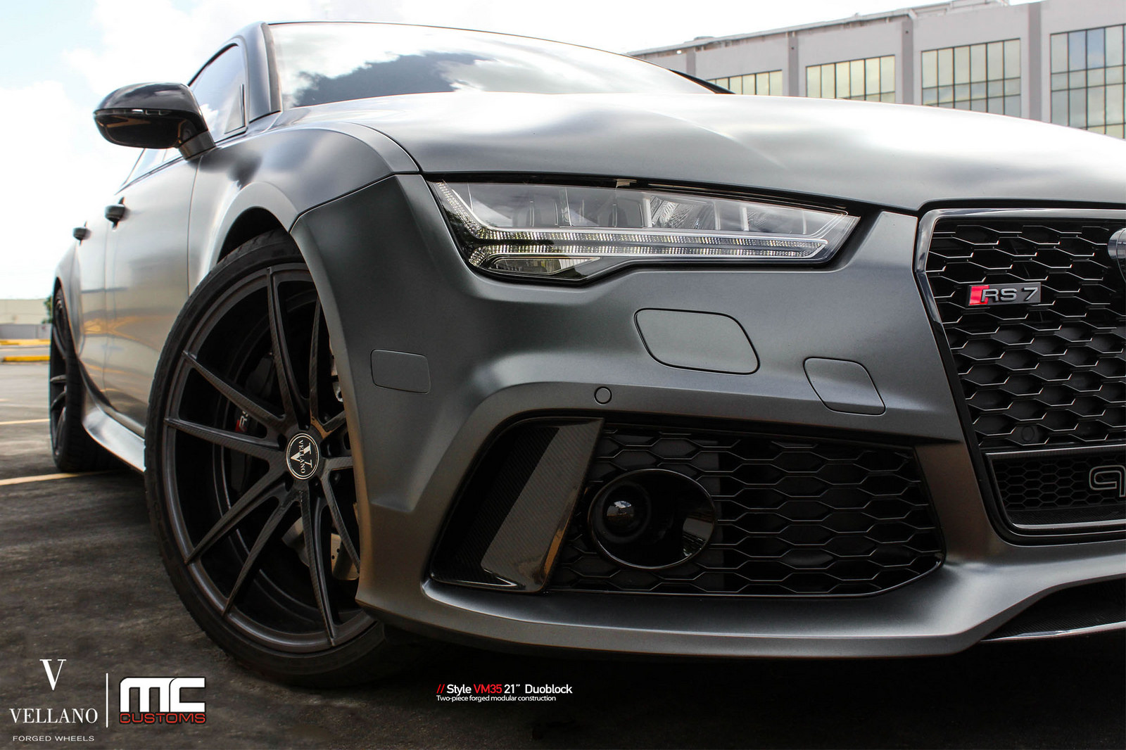 Satin Grey Audi Rs7 On Vellano Wheels Is A Supercar Slayer Carscoops