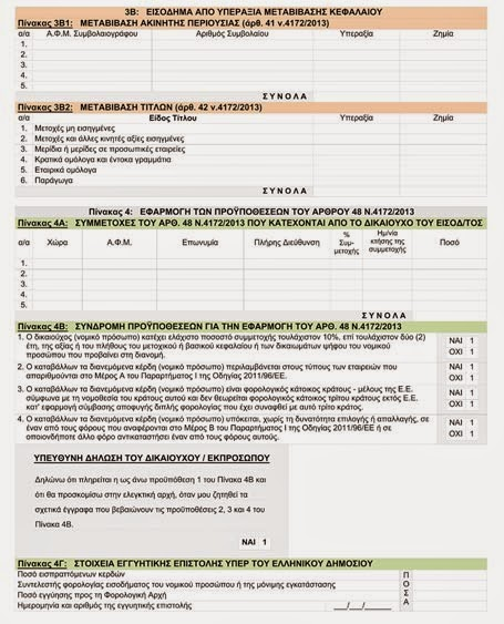 εντυπο, ΠΟΛ, φορολογικες δηλώσεις, εισοδηματος, 4172/2013, ΝΟΜΙΚΩΝ ΠΡΟΣΩΠΩΝ, οντοτητα,