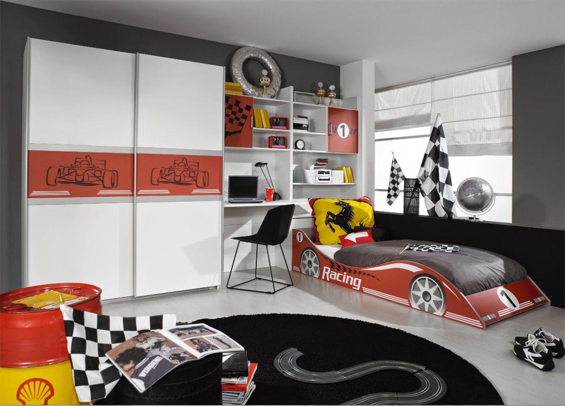 Secret de chambre chambre enfant for Chambre garcon voiture de course