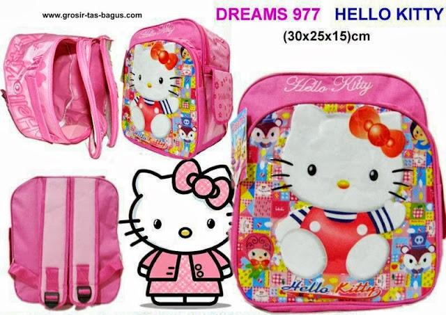 Tas Ransel Sekolah Anak TK - PAUD - SD Murah dan Bagus Dreams 977 Hello Kitty