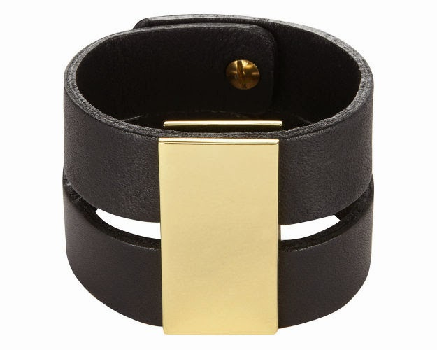 whistles leather cuff