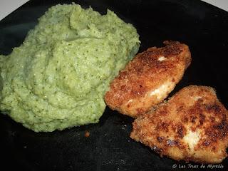 Nuggets de poulet et purée verte (voir la recette)