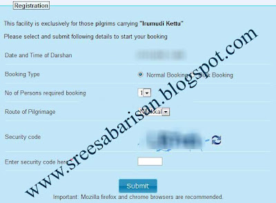 sabarimala booking