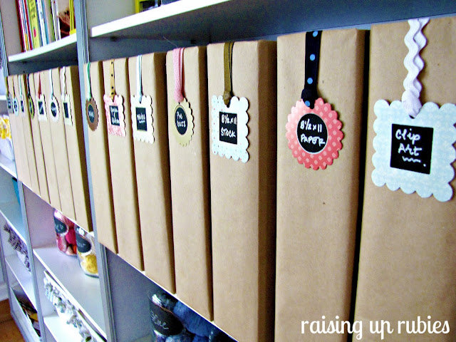 craft room storage Raising up Rubies via Funky Junk Interiors