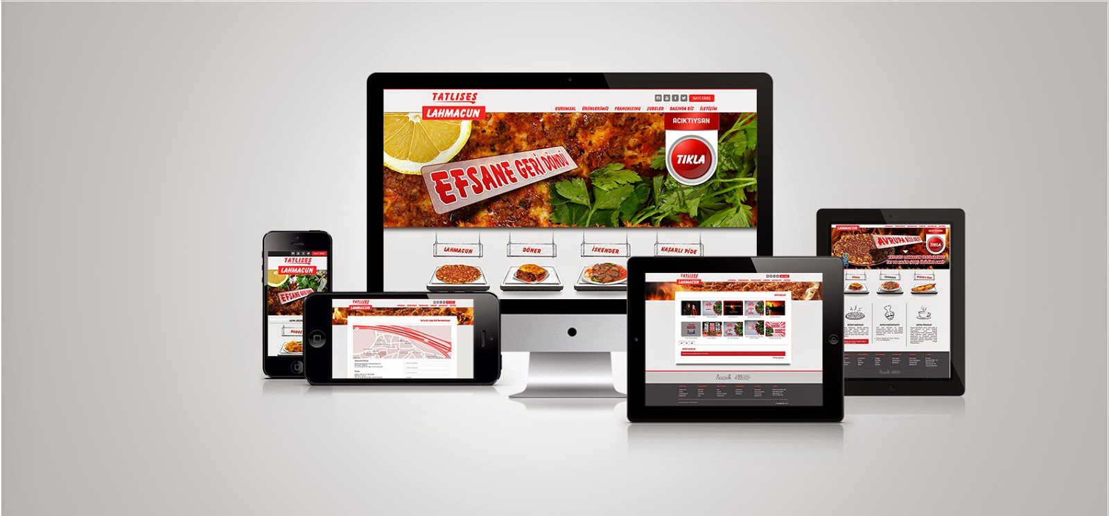 Tatlıses Lahmacun Web Tasarım - Responsive Design