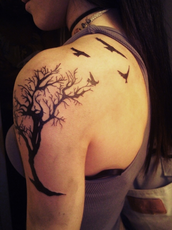 Collection of tattoos awesome tree of life tattoo designs for Tattoo design in shoulder