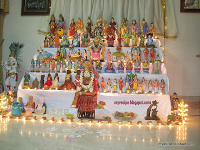 Kolu means decorations with differernt type of dolls