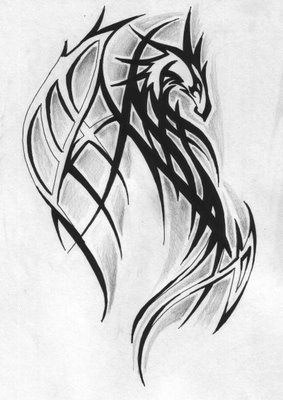 Keller, Esmeralda  Tribal%20dragon%20tattoos-Dragon_tattoo_by_Towe-Tattoo