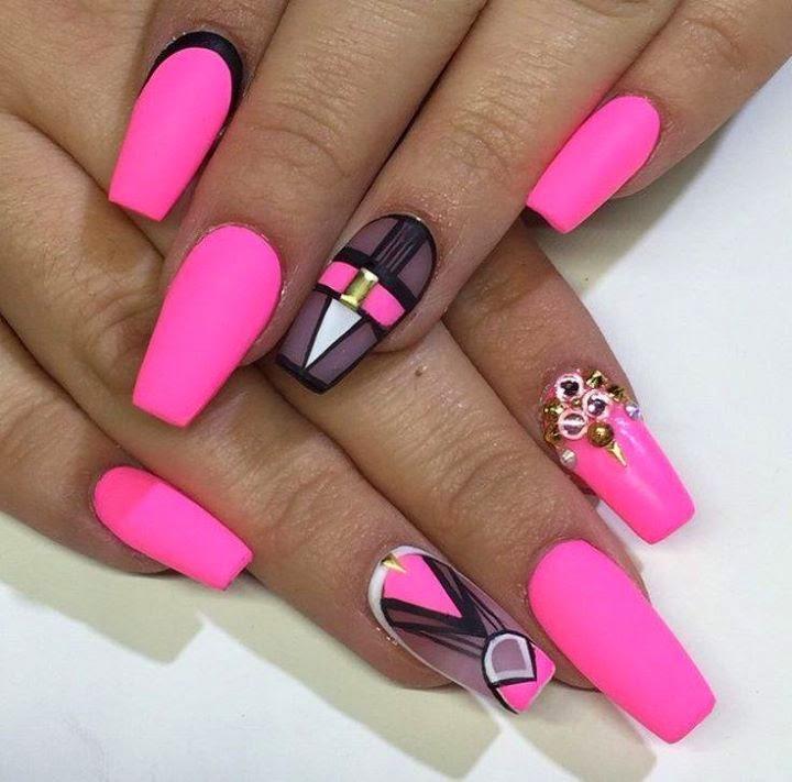 Pink Nails Design Ideas...