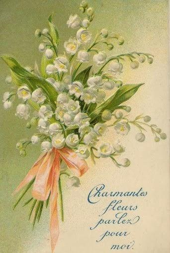 carte postale ancienne muguet