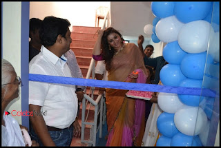 Namitha Latest Pictures in Saree at Womens Fitness Center Launch  0014