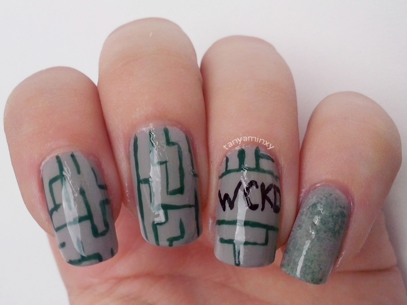 The Maze Runner Nails Nail Art Nail Design Movie Nails Book Nails Dystopia Nails