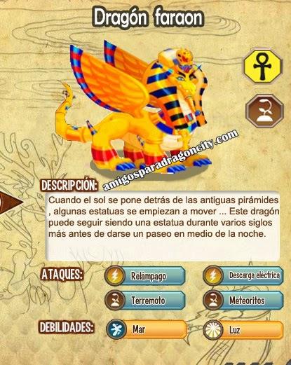 imagen del dragon faraon y sus caracteristicas