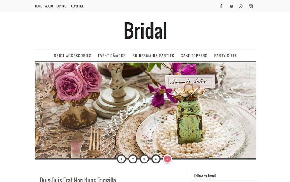Bridal Responsive Blogger Tema