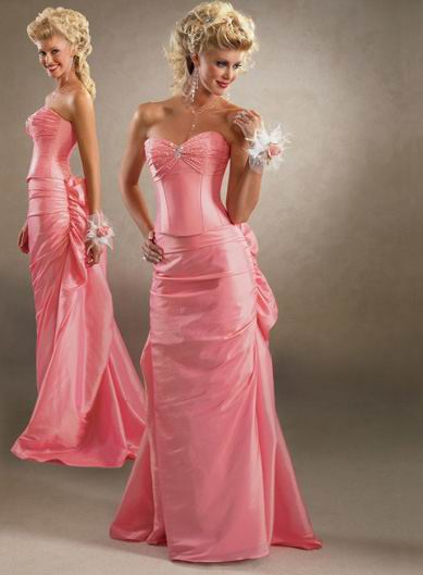 Pink wedding gowns wedding plan ideas for Pink wedding dresses pictures