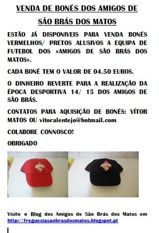 VENDA DE BONES DOS AMIGOS DE SÃO BRÁS DOS MATOS