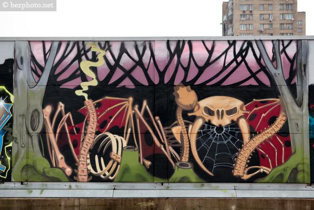 стена граффити в москве