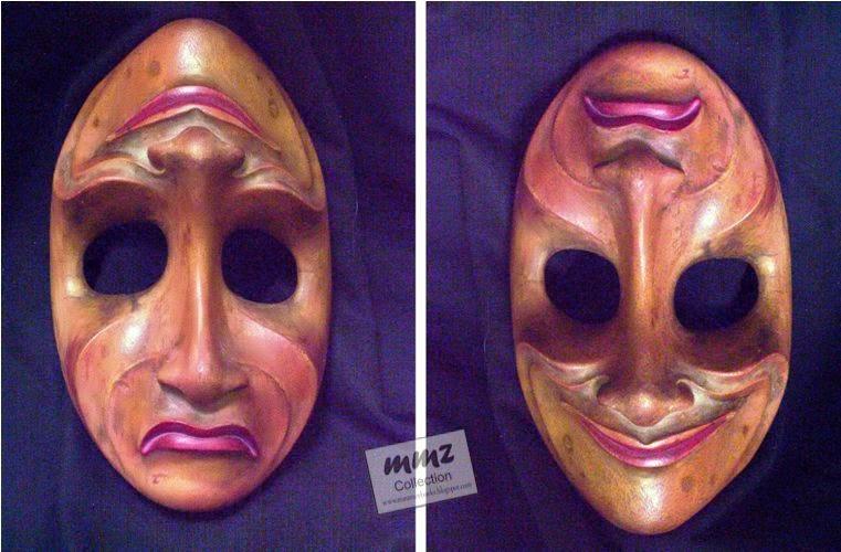 topeng tua,sebuah topeng 2 karakter